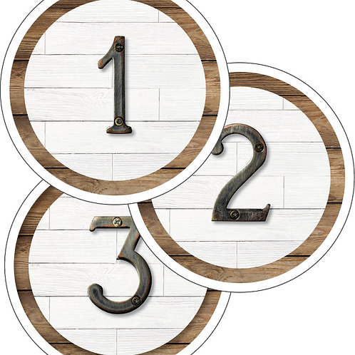 Industrial Chic Student Numbers Mini Cut-Outs