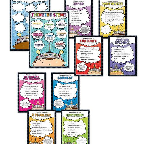Thinking Stems Chart Set Grade K-5