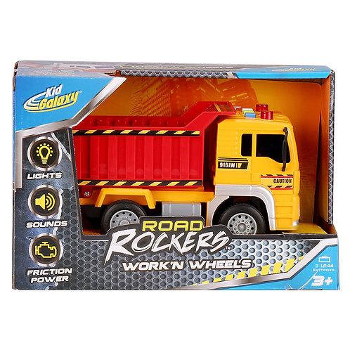 Road Rockers Work'n Wheels Dump Truck w/ Lights & Sounds