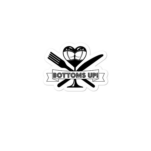 Bottoms Up! Stickers