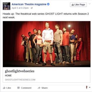 American Theater Magazine - GHOST LIGHT