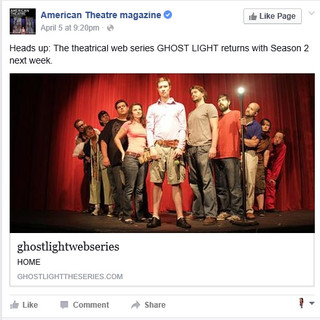 American Theater Magazine - GHOST LIGHT