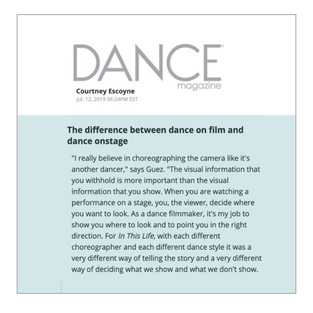 Dance Magazine - IN THIS LIFE