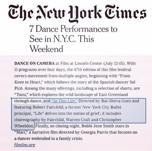 The New York Times - IN THIS LIFE