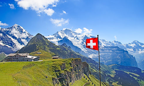 Swiss flag on the top of Mannlichen (Jun
