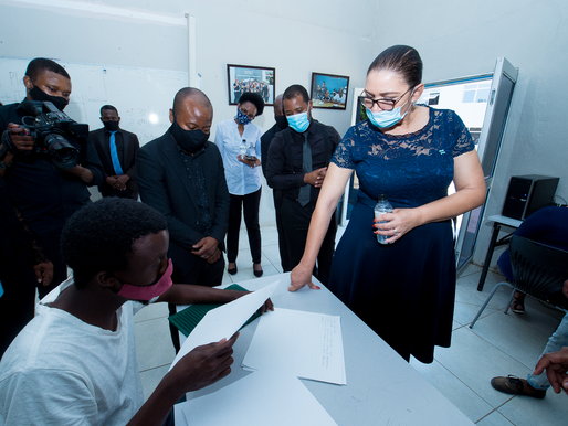 Hon. Anna Mokgethi Impressed By Limkokwing During Official Campus Visit