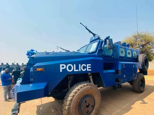 Zambia's modern military equipment for Police to safeguard peace