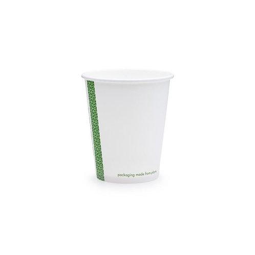 Стакан з переробленого паперу та покриттям PLA для гарячих напоїв, білий,180мл