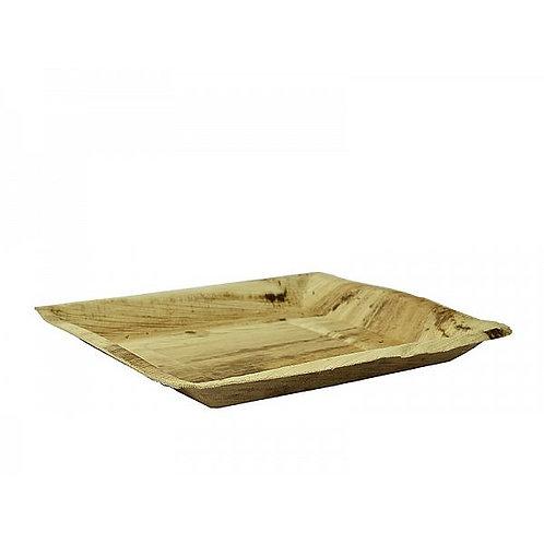 Квадратна тарілка з пальмового листя, 250 мм (25шт.)