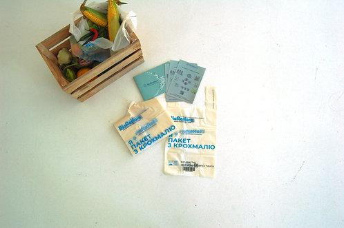 Пакети-шопери з крохмалю, 25 пакетів в упаковці