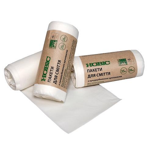 Пакети для сміття 35л, 20 пакетів в рулоні