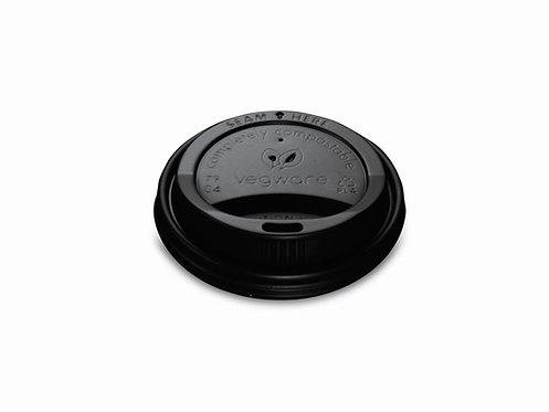 Кришка з PLA до стакану для гарячих напоїв 360мл,чорна (50шт)