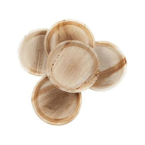 Кругла тарілка з пальмового листя, 250 мм (5шт.)