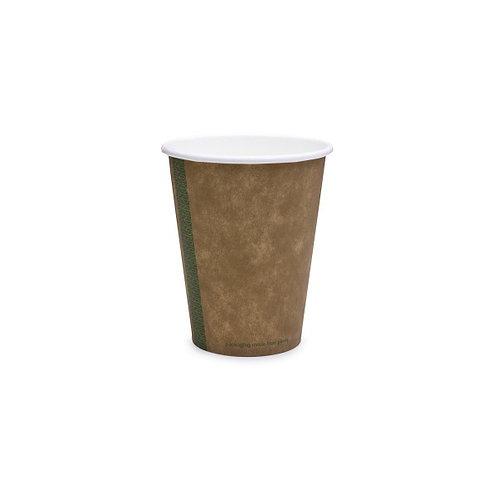 Стакан з переробленого паперу та покриттям PLAдля гарячих напоїв, крафт,360мл