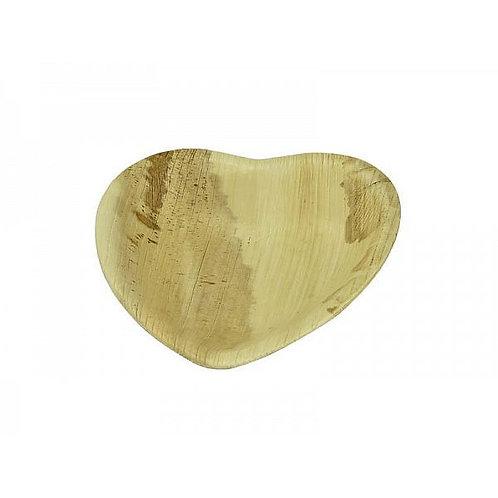 Тарілка у формі серця з пальмового листя, 150 мм (25шт.)