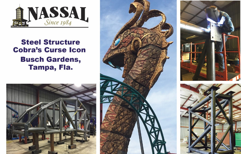Busch Garden's Cobra Curse Snake Fabrication