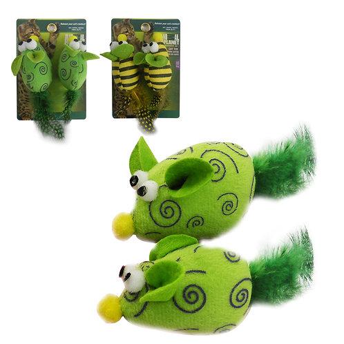 Set de 2 juguetes para gato