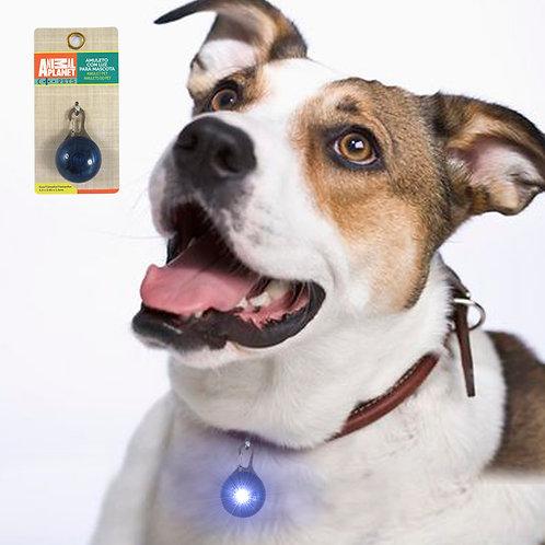 Dije con luz led para perro