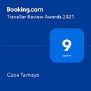 Booking.com Traveller Review Awards 2021 Casa Tamayo