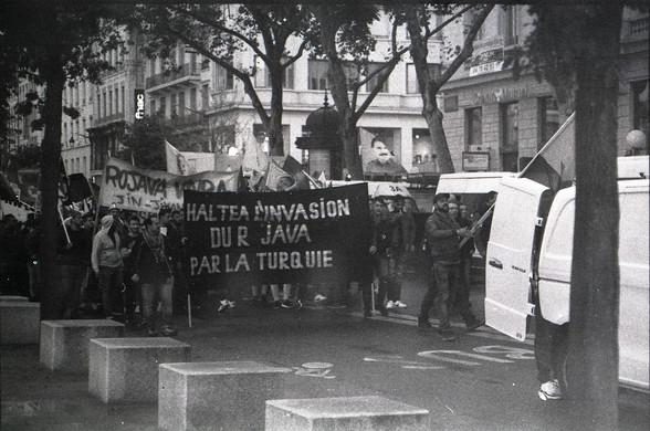 Manifestation contre l'invasion du Rojava / Lyon