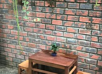 お店の庭の準備