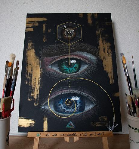 Dessin-Peinture - Mind n°2 - 30x40cm