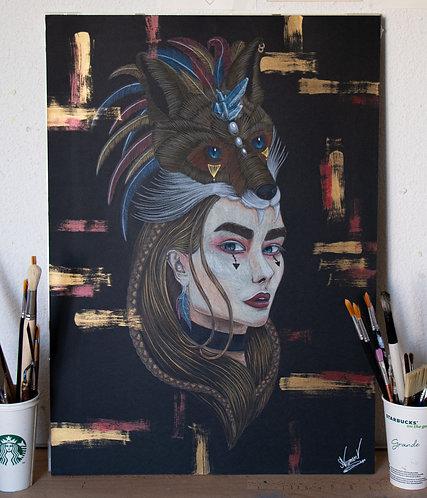 Dessin- Peinture - Omahas- 50x70 cm