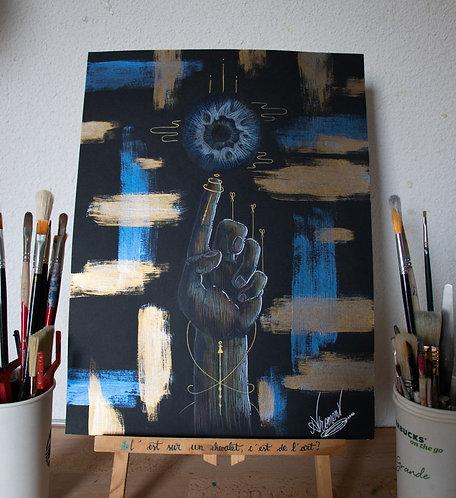 Dessin-Peinture - Mind n°5 - 30x40cm
