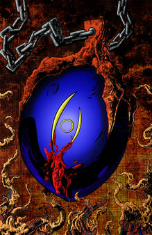 Sapphire eye pendant