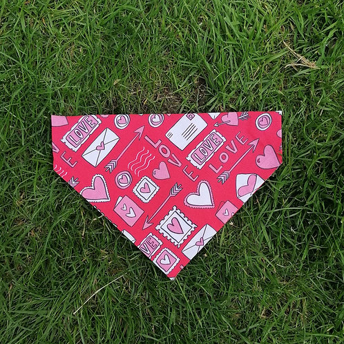 Love Hearts and Kisses Bandana