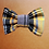 Thumbnail: Mustard and grey tartan bow