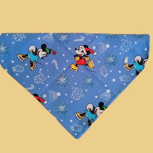 Blue Mickey Mouse Christmas Bandana
