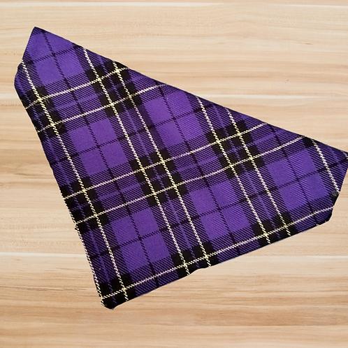 Purple Tartan Bandana