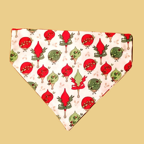 Red and Green Christmas Bauble Bandana