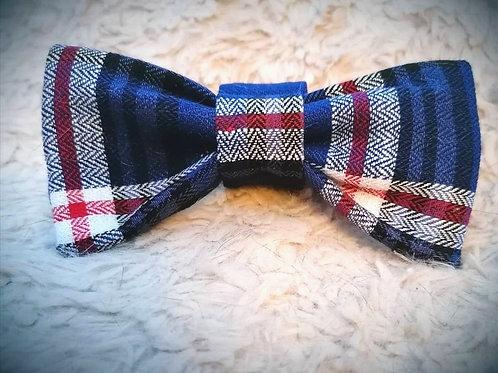 Blue Tartan Bow