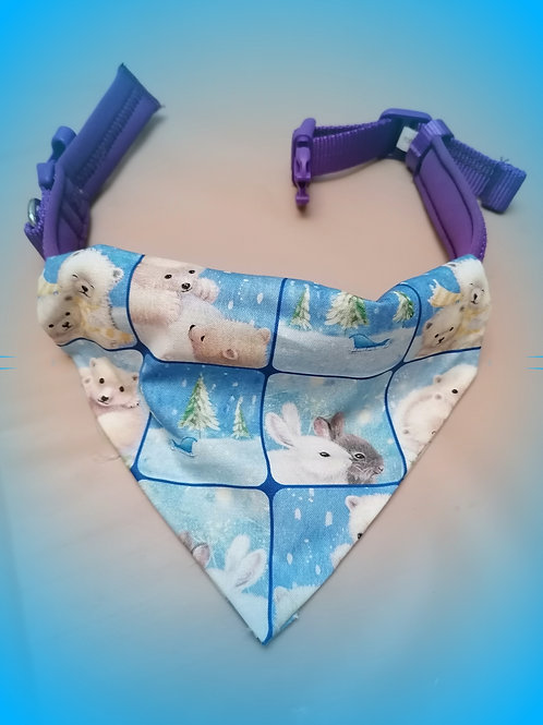 Bunnies and Bears Christmas Bandana