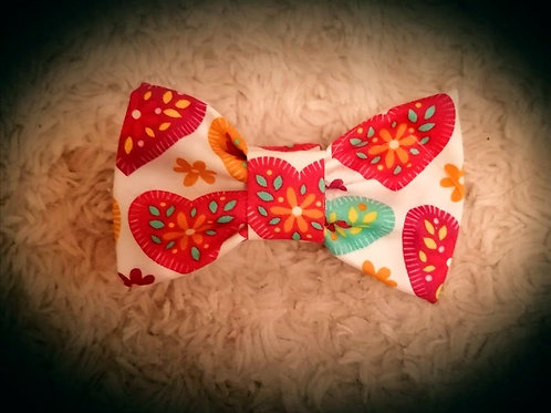 Floral Heart Bow Tie