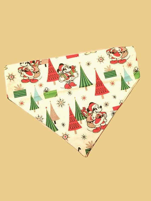 Mickey and Pluto Christmas Bandana