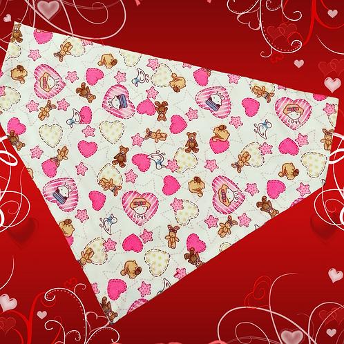 Hearts and Bears Valentine's Bandana