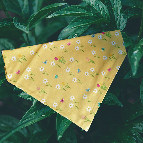 Yellow Floral Bandana