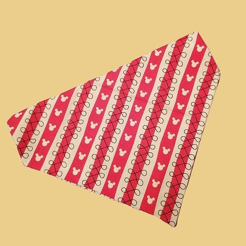 Red and White Stripe Bandana