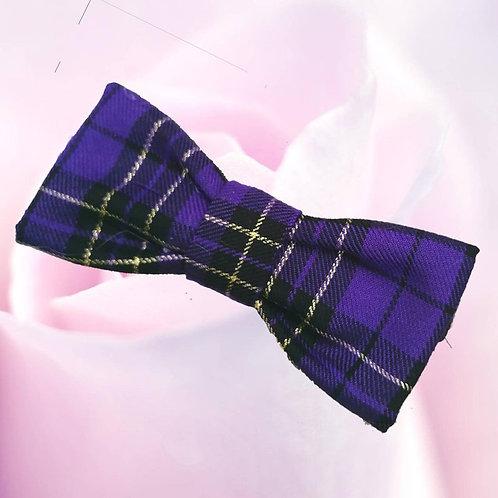 Purple Tartan Bow