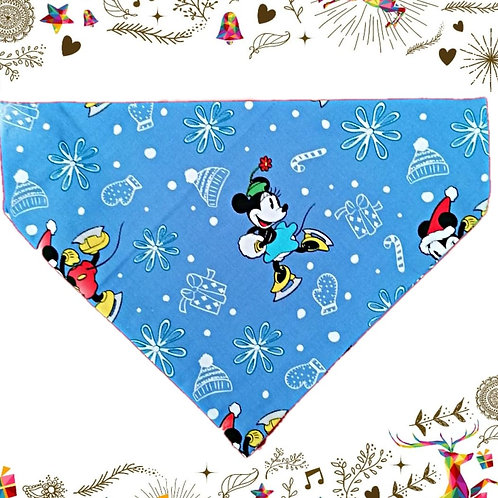 Blue Mickey Mouse Christmas Bandana