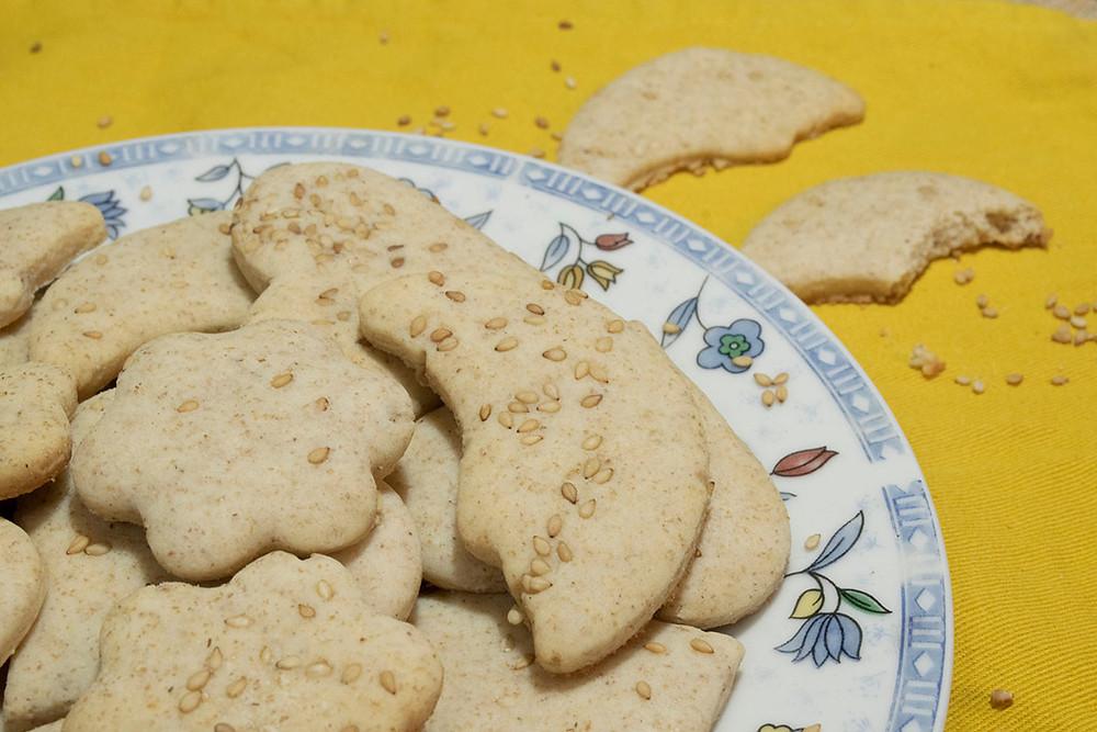 Assiette biscuits au sésame