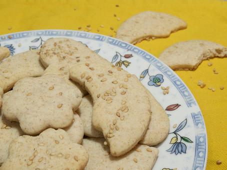 Biscuits au lait concentré et au sésame