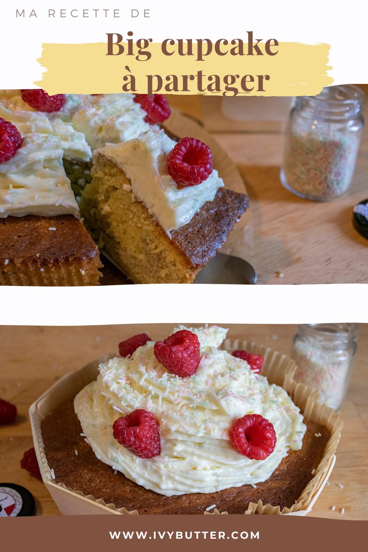 Epingle pinterest big cupcake à partager