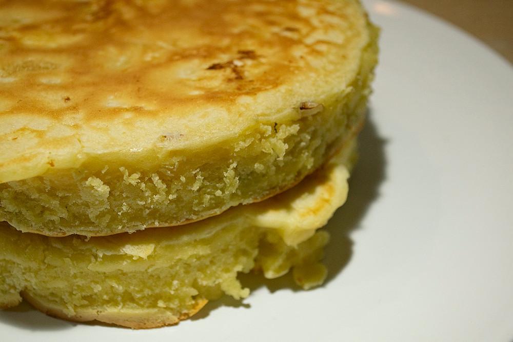 Deux pancakes fourrés entiers