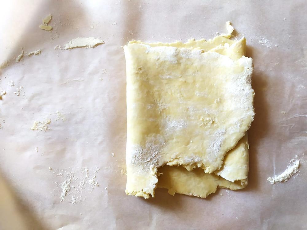 Fin pliage pâte feuilletée
