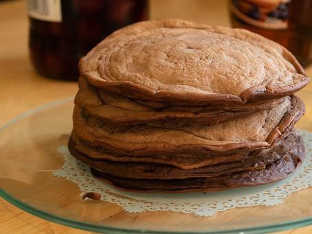 Pancakes au Cacao (sans œufs)