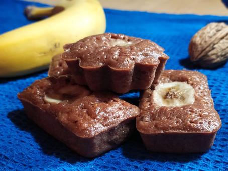 Mini Banana Bread Moelleux Noix et Cacao
